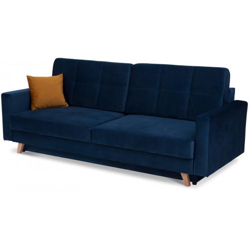 PARMA, obicie: tkanina Velluto 11 (niebieski)