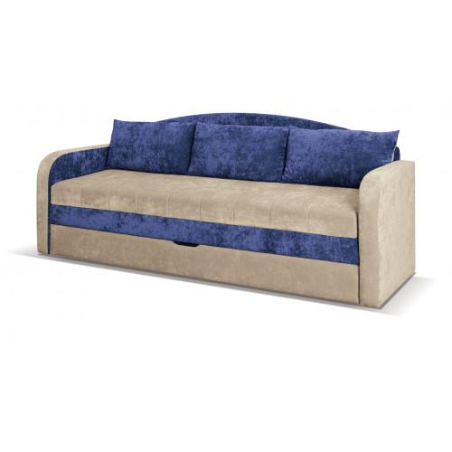 Tenus Sofa, obicie: tkania Dubaj beż i niebieski
