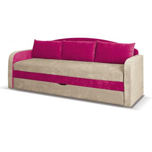 Tenus Sofa, obicie: tkanina Dubaj beż +  róż