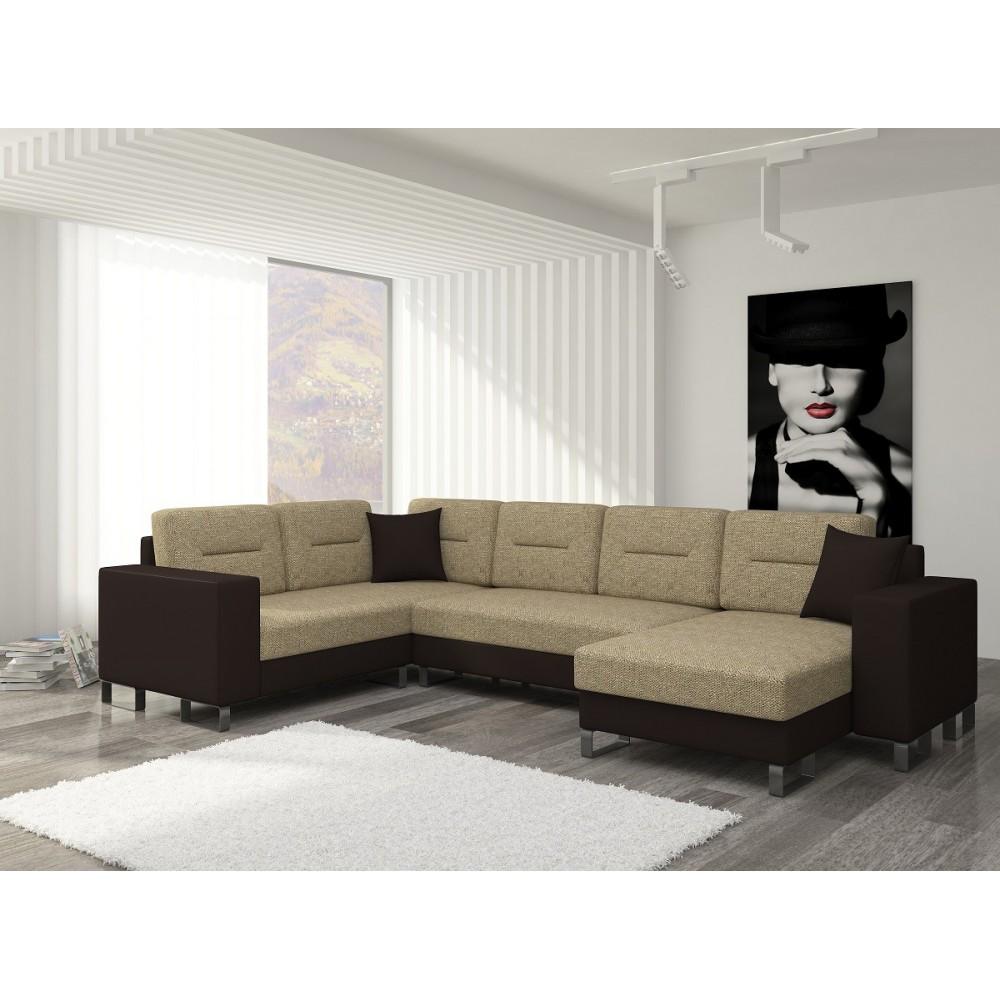 DORADO wzór 01, tkanina Berlin 03 cappucino + Soft 066 dark brown, III grupa cenowa, strona prawa