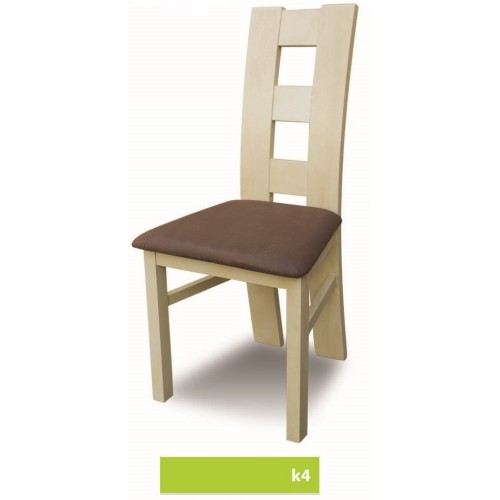 Krzesło k4, obicie na zdjęciu to eko skóra Soft dark brown 066
